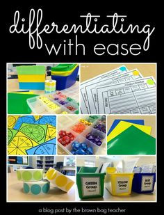 Differentiating Your Classroom with Ease.