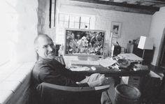 En el despacho de su casa de Palo Alto, en 2004 Foto Diana Walker