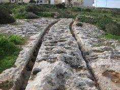 Tracks in stone, Malta Megaliths, Malta