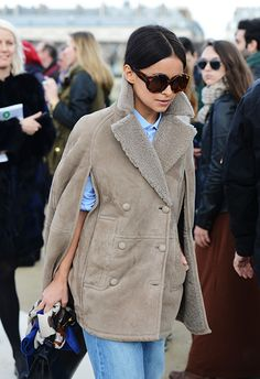 Tommy Ton Shoots Street Style at the Fall 2014 Fashion Shows Outfits Otoño, Tommy Ton, Fashion Corner, Editorial Fashion, Fashion Trends, Style Fashion, Autumn Street Style, Winter Style, Shearling Coat