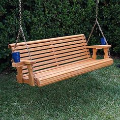 ROLL BACK Amish Heavy Duty 800 Lb 5ft. Porch Swing- Made in USA