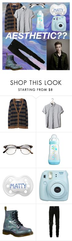 """""""I wonely.... ~~Matty"""" by ddlg-cgl ❤ liked on Polyvore featuring Marni, Pull&Bear, Fujifilm, Dr. Martens and AMIRI"""