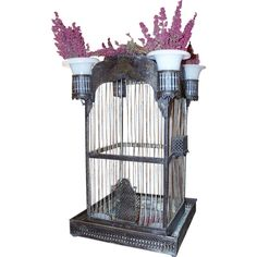 Tole Birdcage | From a unique collection of antique and modern bird cages at http://www.1stdibs.com/furniture/more-furniture-collectibles/bird-cages/