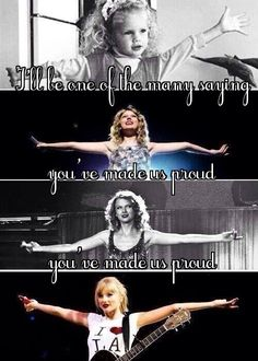 I'll be one of the many saying you made us proud, you've made us proud. ~Sweeter Than Fiction~