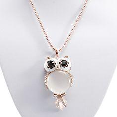 Owl Cat Eye Stone kjede – NOK kr. 52