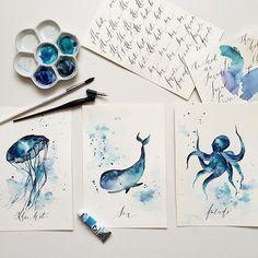 Watercolorist: @tatianakutasova  #waterblog #color #акварель #art #paint…