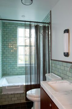 Blue-Green Bath - ELLEDecor.com