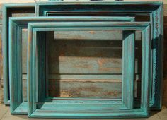 Turquoise Wooden Picture Frame Gallery Collection $68