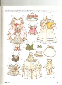 Sew Beautiful paper doll Bessie 2 by Lagniappe*Too, via Flickr