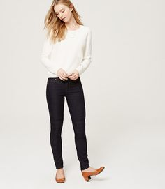 Primary Image of Petite Modern Skinny Jeans in Dark Rinse Wash