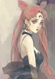 gorgeous omg fan art sailor moon black moon chibi usa black lady dark lady sailor moon fan art