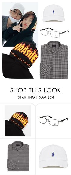 """""""Ft. 김태형 & 전정국 Taekook"""" by alva01 ❤ liked on Polyvore featuring Vans, Ray-Ban and Pal Zileri"""