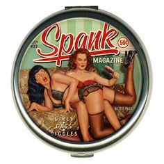 "Bettie Paige ""Spank"" Round Compact"