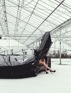 Lamborghini Aventador and Legs - Perfect combo