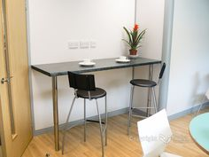 wall mounted bar table | The office Kitchen area also has a breakfast bar installed, we also ...