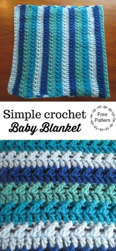 Simple Crochet Baby Blanket |