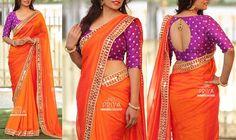Wedding Saree Blouse Designs, Pattu Saree Blouse Designs, Stylish Blouse Design, Saree Blouse Patterns, Fancy Blouse Designs, Stylish Sarees, Indian Designer Wear, Mirror Work, Silk Fabric