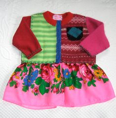 MARIKA Baby  Wool Coat / baby folk dress . Dress by heartfeltbaby