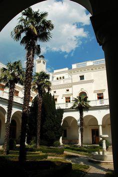 Italian Patio of the Grand Livadia Palace near Yalta, Crimea, Russia