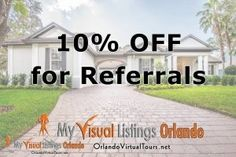 Get Referral Credit! - My Visual Listings Orlando Property Management, Virtual Tour, Orlando, Tours
