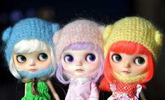 My 3 FBL Cuties....*Milky, Creamy Mami & Poppy**, via Flickr. #blythe