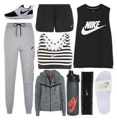 """""""RUNNING DAY"""" by jazzy-9 ❤ liked on Polyvore featuring NIKE"""