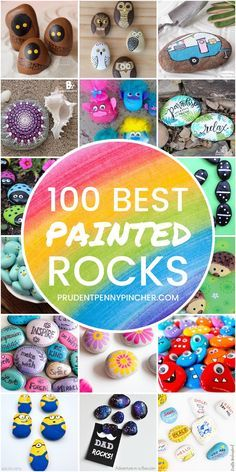 Get creative with these DIY painted rocks. From mandala rocks to easy painted rock crafts for kids, there are plenty of ideas for inspiration. painting ideas for kids Rock Painting Patterns, Rock Painting Ideas Easy, Rock Painting Designs, Painting For Kids, Diy Painting, Painted Rocks Craft, Hand Painted Rocks, Painted Garden Rocks, Stone Crafts