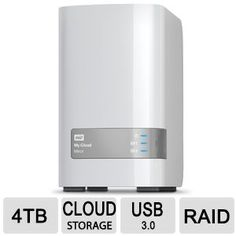 WD My Cloud™ Mirror™ 4 TB Personal Cloud Storage