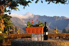 View from the villa in the village of Luscignano, in Lunigiana, Tuscany