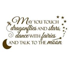 dragonflies, stars, fairies and moon.... all things I love.