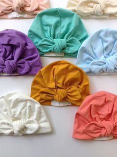 Handmade turban hats for all ages. Newborn-adult. Choose your favorite color. #turban #babyturban #turbanhat