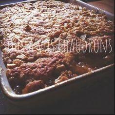 """Pouding aux pommes (terriblement délicieuse !) Je suis tombée sur une recette hier soir (je dirais même cette nuit) sur le site de """"Le ..."""