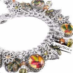 Autumn Leaves Charm Bracelet