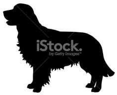 Golden Retriever Dog Silhouette Royalty Free Stock Vector Art Illustration