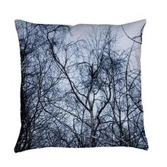 Pollock Branches Everyday Pillow.  Branches entwining, reaching upwards, like mother nature's version of the  Jackson Pollock drip paintings.