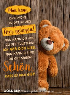 Visit the post for more. Big Love, Love You, Teddy Bear Pictures, German Quotes, Love Notes, Little Gifts, Friendship Quotes, Cool Words, Hostess Gifts