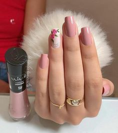 trendy Ideas for nails sencillas largas Perfect Nails, Gorgeous Nails, Stylish Nails, Trendy Nails, Diy Nails, Manicure, Light Pink Nails, Rose Nails, Pink Nail Designs