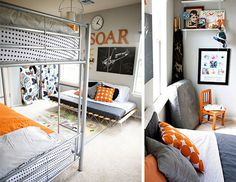 Bunk beds: shared room for three