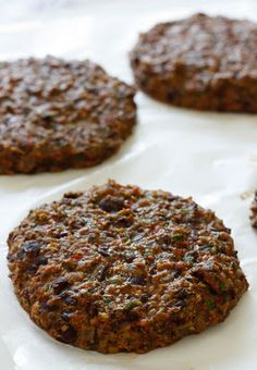 Black Bean Burgers- without the meat! Awesome replacement with a great taste!