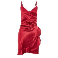 Quiz Ladies Sam Faiers Wine Satin Wrap Frill Dress - Wine   Buy Online in South Africa   takealot.com Sam Faiers, Frill Dress, No Frills, South Africa, Satin, Wine, Formal Dresses, Lady, Stuff To Buy
