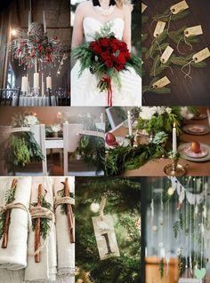 Fir Tree #Foliage #Winter #Wedding Styling Mood Board from The Wedding Community