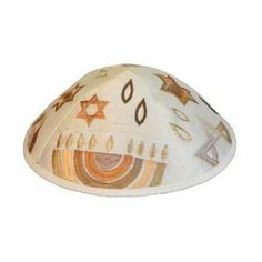 YAIR EMANUEL MODERN KIPPAH with Gold design. This beautiful kippa is machine embroidered and features stars of David and the Menorah in festive shades of gold.  This soft, elegant kippa is a beautiful way to express your Judaism as well as your style.  Get this Gold Embroidered Kippah on best price $ 14 only. For more info visit http://www.yarmulkes.com/system/scripts/results_big.cgi?product=YME-5G
