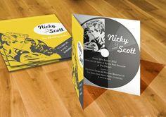 Music themed cd invitations
