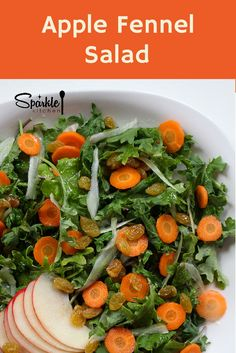 PALEO, SEASONAL. Baby kale, apple, fennel and carrot with a lemon olive oil dressing.
