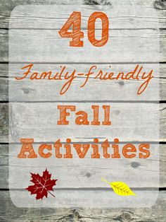 Wonderful list of FREE & low cost family activities to enjoy this Fall!