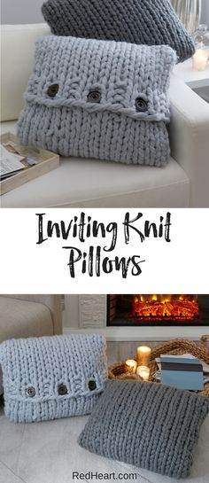 Pillows are especially good at helping your body to find the perfect comfort position. This pillow pattern is also easy enough to use for knitting to relax, as the pattern is extra easy!