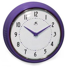 Infinity Instruments Retro Purple Wall Clock | Pure Home