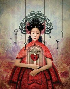 "Cincinnati Opera's 2015 Season: ""Turandot"" - illustration by Catrin Welz-Stein Cincinnati, Turandot Opera, Claudia Tremblay, Frida Art, Illustrator, Art Sculpture, Arte Pop, Pop Surrealism, Heart Art"