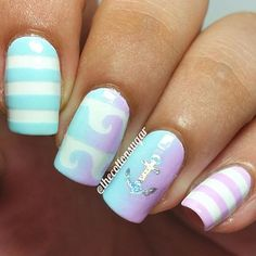 Your summer isn't complete without a beach inspired manicure! Easy to apply and remove, our original Beach Wave Nail Vinyls provide the perfect design on your nails this season. Outlines included with Fabulous Nails, Perfect Nails, Fancy Nails, Pretty Nails, Nail Polish Designs, Nail Art Designs, Wave Nails, Uñas Fashion, Gel Nagel Design