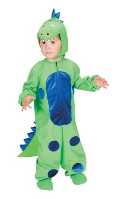 fun shack Kids Dinosaur Costume Childrens Green Hooded Onesie Historical Outfit